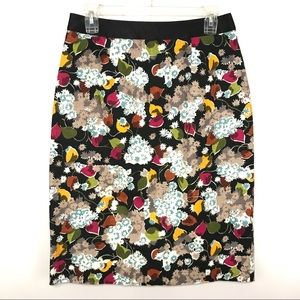 Anthro Girls From Savoy Eero Pencil Skirt Floral 8